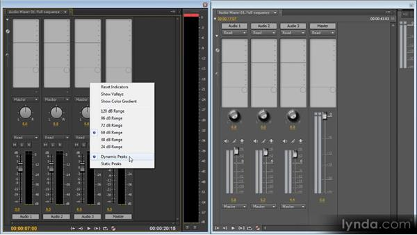 Changes to the Audio Mixer and Audio Meters panels: Premiere Pro CS6 New Features Overview