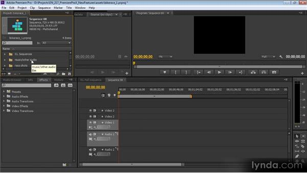Changes in audio tracks and merged clip audio: Premiere Pro CS6 New Features Overview