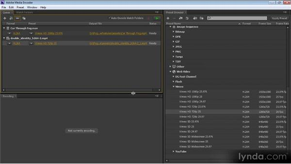 The Preset Browser panel and parallel encoding: Premiere Pro CS6 New Features Overview