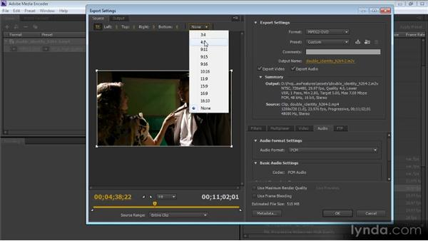 Scaling and cropping in Adobe Media Encoder: Premiere Pro CS6 New Features Overview