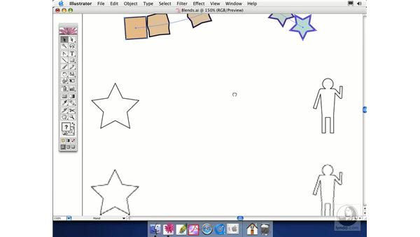 blending objects: Illustrator CS Essential Training