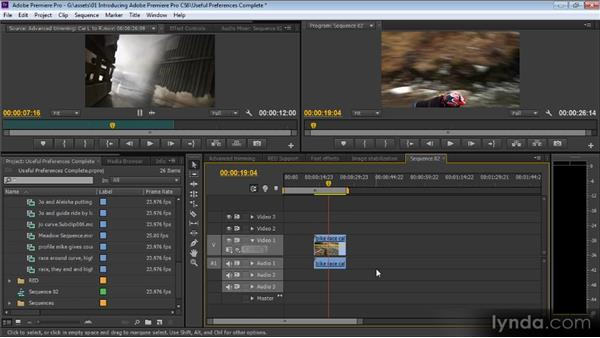 Useful preferences: Up and Running with Premiere Pro CS6