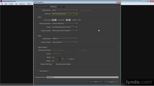 Creating a sequence: Up and Running with Premiere Pro CS6