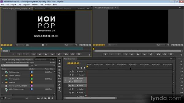 Importing media files: Up and Running with Premiere Pro CS6