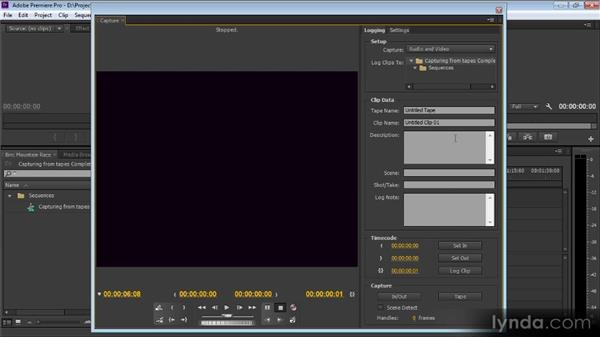 Capturing from tapes: Up and Running with Premiere Pro CS6