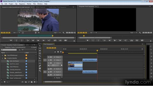 Targeting tracks: Up and Running with Premiere Pro CS6
