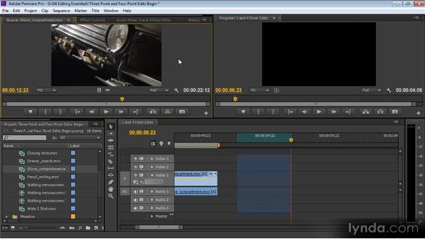 Three- and four-point edits: Up and Running with Premiere Pro CS6