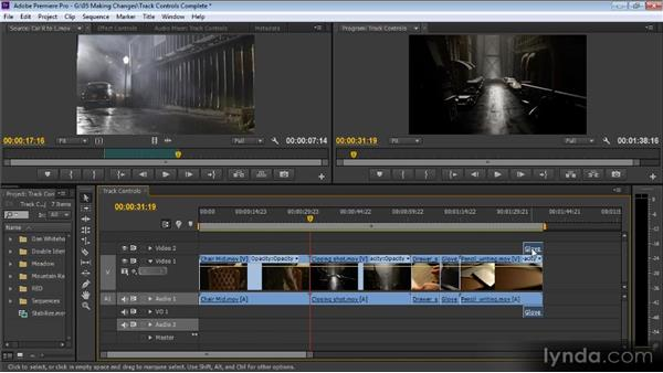 Track controls: Up and Running with Premiere Pro CS6