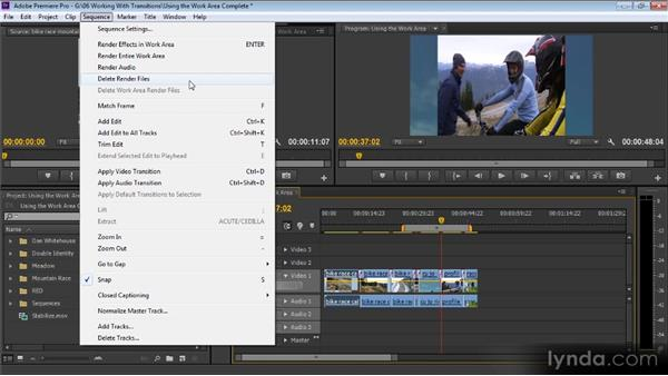 Using the Work Area: Up and Running with Premiere Pro CS6