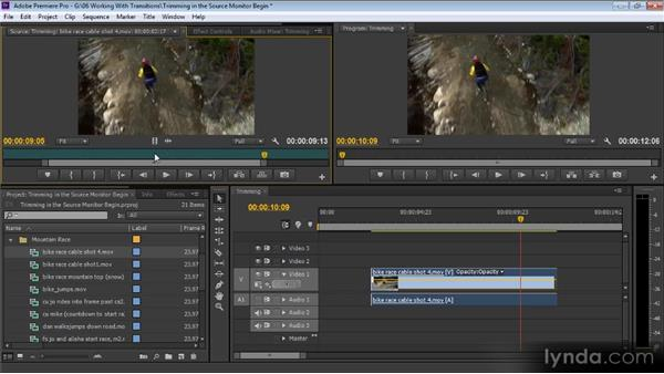 Trimming in the Source Monitor: Up and Running with Premiere Pro CS6