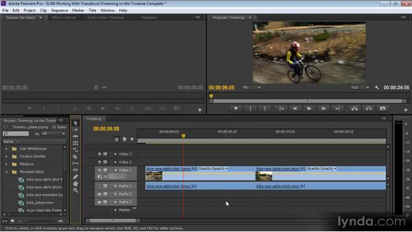 Trimming on the Timeline: Up and Running with Premiere Pro CS6