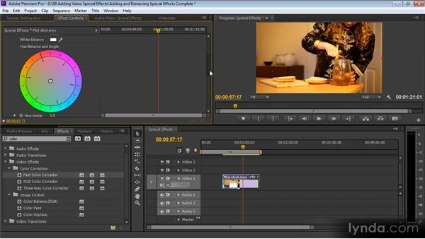 Adding and removing special effects: Up and Running with Premiere Pro CS6