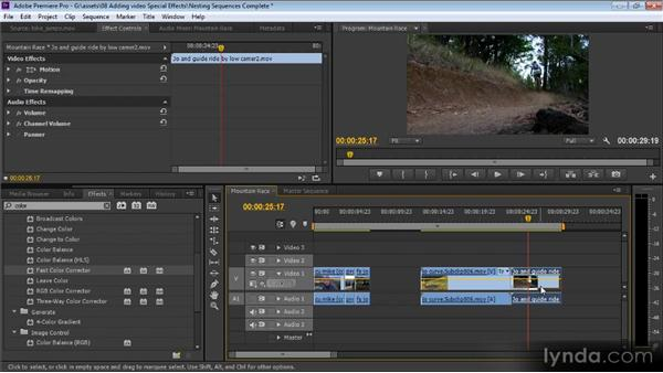 Nesting sequences: Up and Running with Premiere Pro CS6
