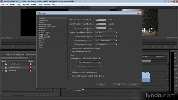 Creating and editing titles: Up and Running with Premiere Pro CS6