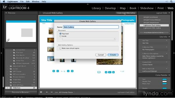 What's new with the Web, Print, and Slideshow modules: Lightroom 4 New Features Overview