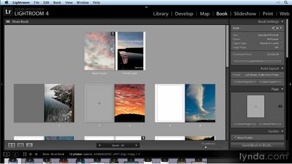 Saving a book as a PDF or publishing with Blurb: Lightroom 4 New Features Overview