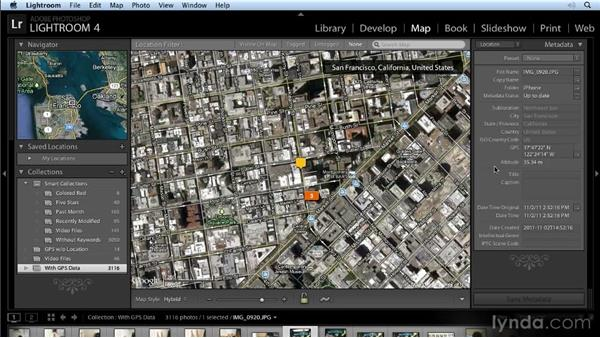 Setting map preferences: Lightroom 4 New Features Overview