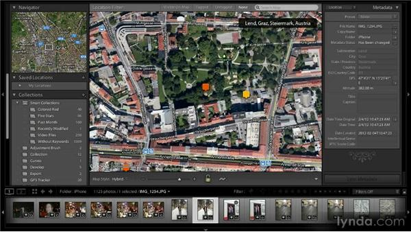 Working with geotagged photos: Lightroom 4 New Features Overview