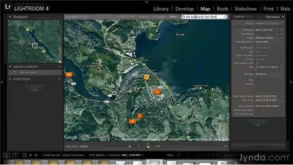 Using the Location Filter and Saved Locations: Lightroom 4 New Features Overview
