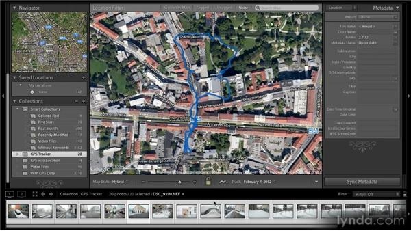 Loading and using a track log: Lightroom 4 New Features Overview