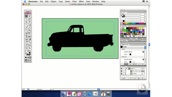 outline object: Illustrator CS Essential Training
