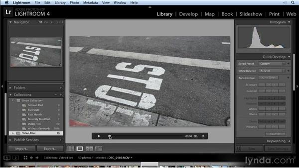 Setting a poster frame: Lightroom 4 New Features Overview