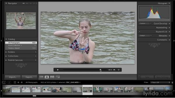 Capturing a still frame: Lightroom 4 New Features Overview