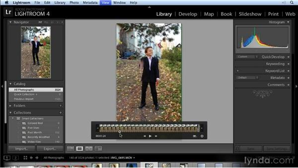 Trimming a video: Lightroom 4 New Features Overview