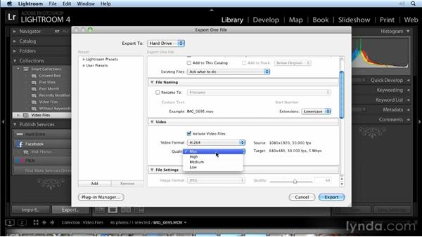 Exporting video: Lightroom 4 New Features Overview