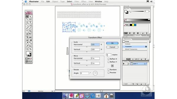 transform effect: Illustrator CS Essential Training