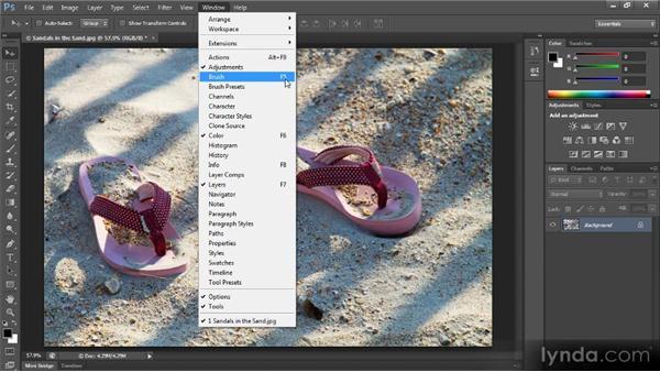 The Photoshop interface: Photoshop CS6 Quick Start for Photographers