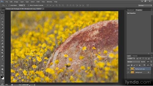 The status bar: Photoshop CS6 Quick Start for Photographers