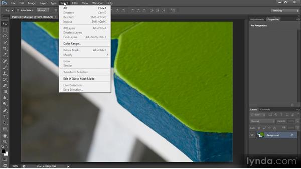 The menu bar: Photoshop CS6 Quick Start for Photographers