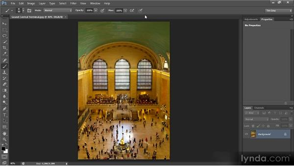 The options bar: Photoshop CS6 Quick Start for Photographers