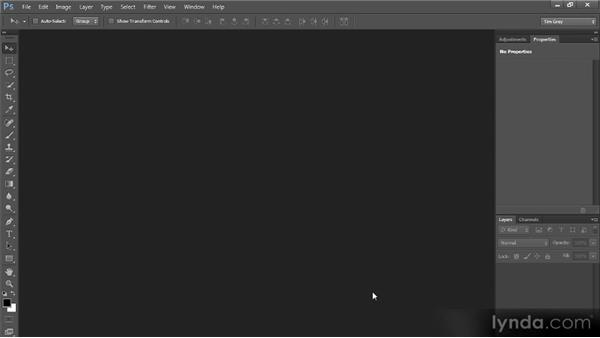 Opening an image: Photoshop CS6 Quick Start for Photographers