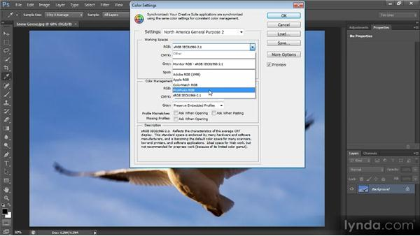 Color settings: Photoshop CS6 Quick Start for Photographers