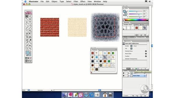 using graphic styles: Illustrator CS Essential Training