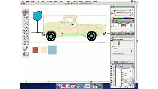 merging styles: Illustrator CS Essential Training