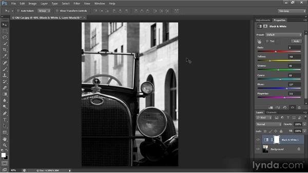 Converting to black and white: Photoshop CS6 Quick Start for Photographers