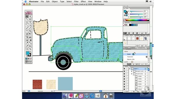 editing styles: Illustrator CS Essential Training