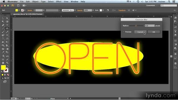 Gaussian Blur improvements: Illustrator CS6 New Features Overview