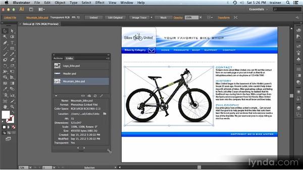 Links panel enhancements: Illustrator CS6 New Features Overview