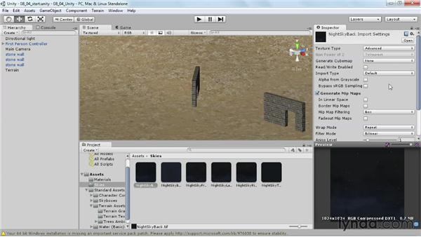 Implementing skyboxes in Unity: Learn to Texture for Games