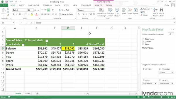 Introducing PivotTables: Excel 2013: Pivot Tables in Depth