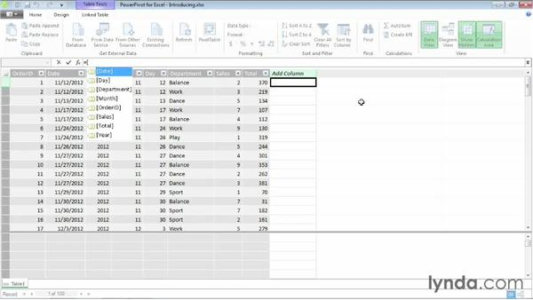 Introducing the DAX language: Excel 2013: Pivot Tables in Depth
