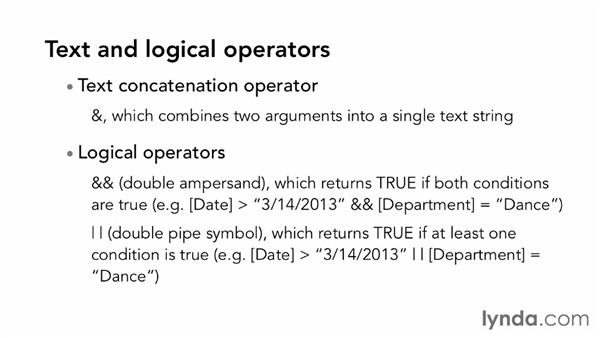 Using DAX operators: Excel 2013: Pivot Tables in Depth