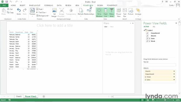 Starting out with Power View: Excel 2013: Pivot Tables in Depth