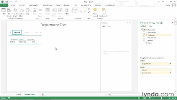Creating a tile: Excel 2013: Pivot Tables in Depth