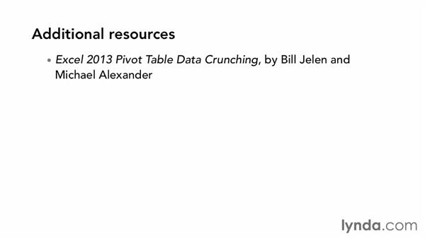 Next steps: Excel 2013: Pivot Tables in Depth