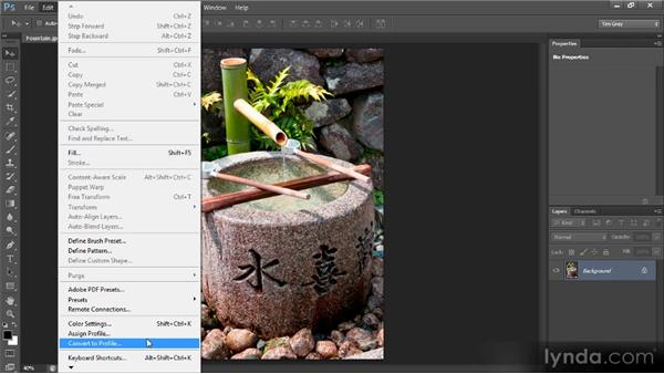 Assigning a profile: Optimal Output with Photoshop CS6
